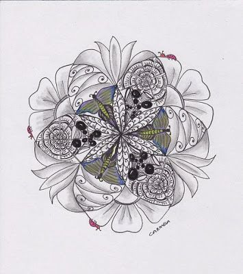 Zentangle/Zendala Lover: Diva Challenge 144