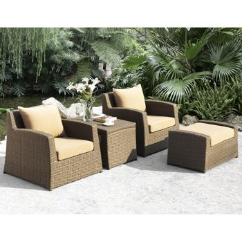 Admirable Sirio Hampton 4 Piece Club Chair Set Costco Ca Screened Home Interior And Landscaping Ologienasavecom