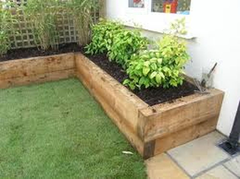 Garden ties google search b gardening pinterest for Garden designs sleepers
