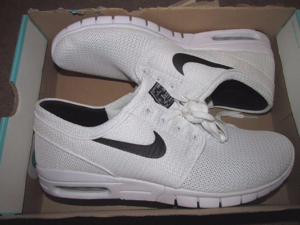 Nike Sb Stefan Janoski Max Skateboarding Shoes Mens 11 White Black 631303 100 Nike Sb Sneakers Nike Nike