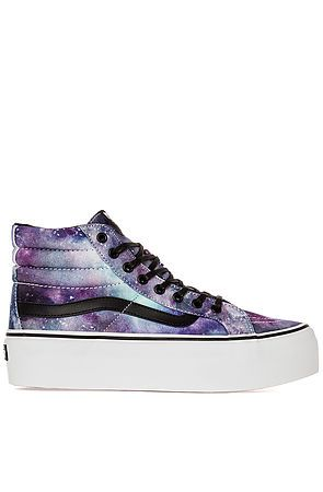 f6b62a905c84 The SK8-Hi Platform Sneaker in Cosmic Galaxy by Vans Footwear ...