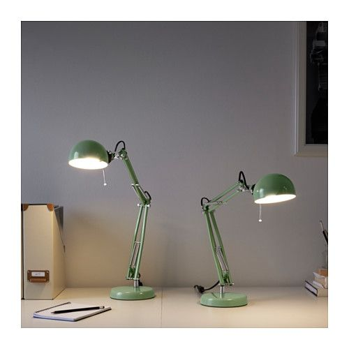 fors lampe de bureau vert bureau ikea ikea et bureau. Black Bedroom Furniture Sets. Home Design Ideas