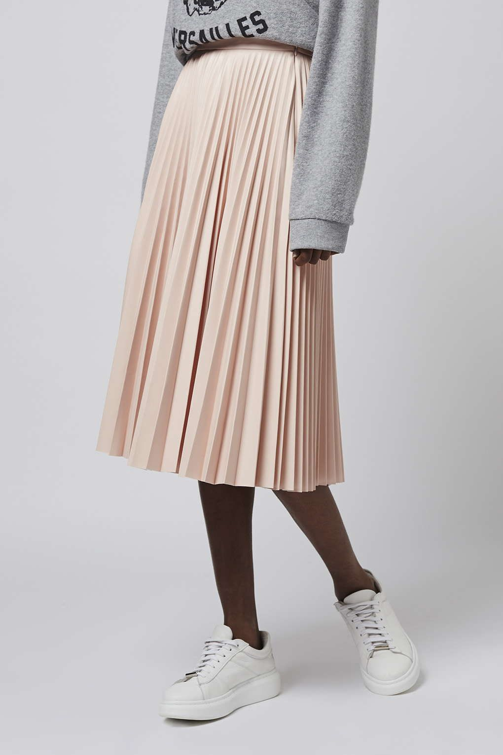 5eea52727 PU Pleated Midi Skirt - Topshop | Style. | Topshop skirts, Pleated ...