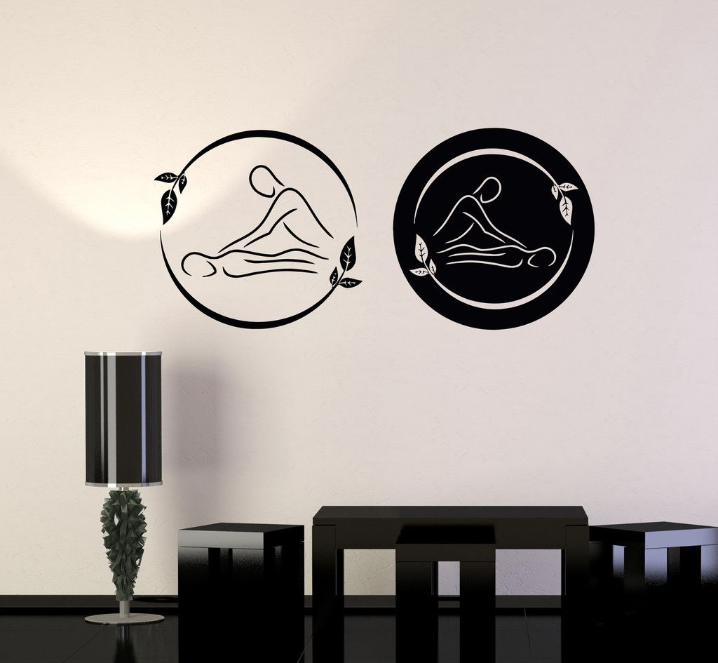 Vinyl Wall Decal Spa Massage Therapy Beauty Logo Relax