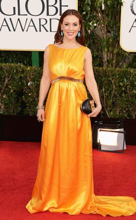 Alyssa Milano From 2013 Golden Globes Arrivals Nice Dresses