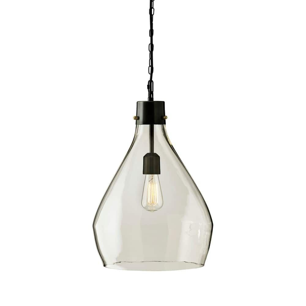 Overstock Pendant Lights Stunning Signature Designashley Avalbane Gray Glass Pendant Light Decorating Design