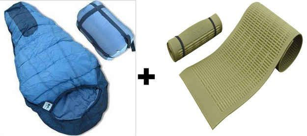 Yoga mats can double as foam sleeping pads to isolate you from the ground. | 23 Essential Winter Camping Hacks