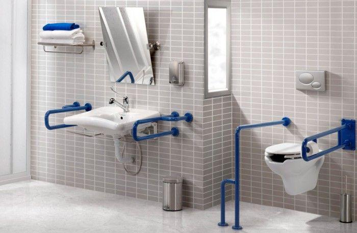 Przyklad Nowoczesnej Aranzacji Toalety Dla Niepelnosprawnych Z