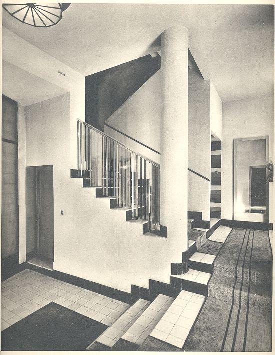 Rob mallet stevens architecte paris vestibule de 1 39 h tel de madame m - Hotel martel mallet stevens ...