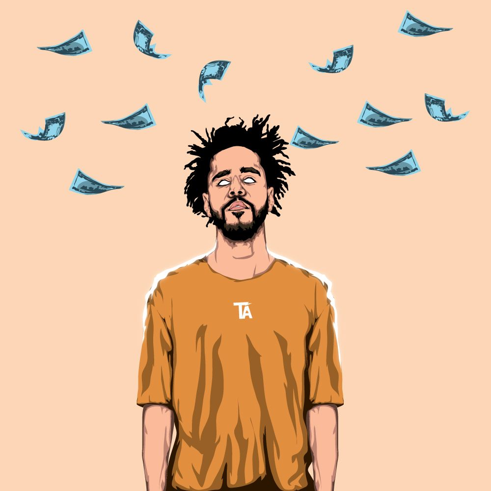 Night Job J Cole Art J Cole Rapper Art