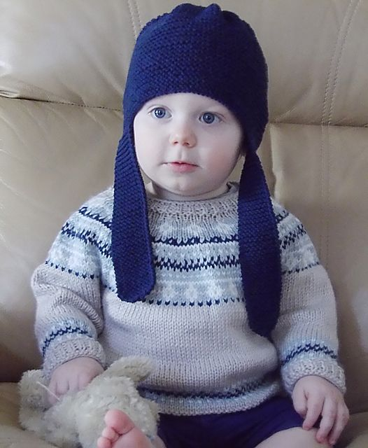 Baby Fair Isle Sweater and Hat P054 pattern by OGE Knitwear ...