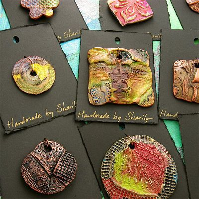 Sharilyn Miller: Handpainted Porcelain Pendants 4 Sale!