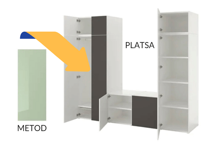Hackers Help Metod Doors For Ikea Platsa Frame Ikea Hackers Ikea Kitchen Doors Ikea Ikea Diy