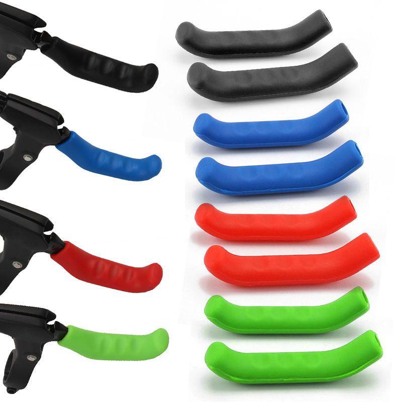 MTB Bike Brake Lever Cover Handlebar Grip Protector Brake Sleeves Red
