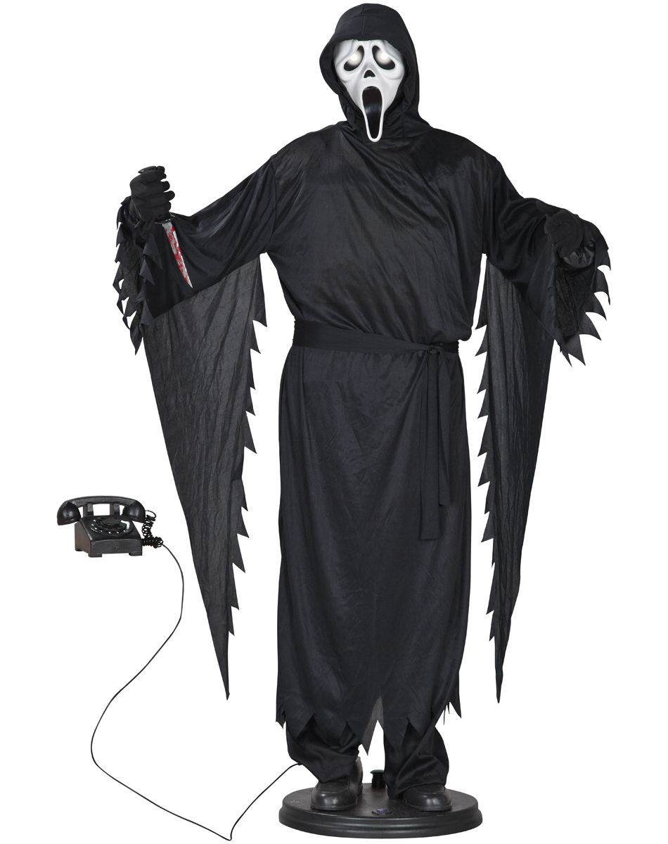 scream life sized ghostface animated prop spirit halloween - Spirit Halloween Animatronics