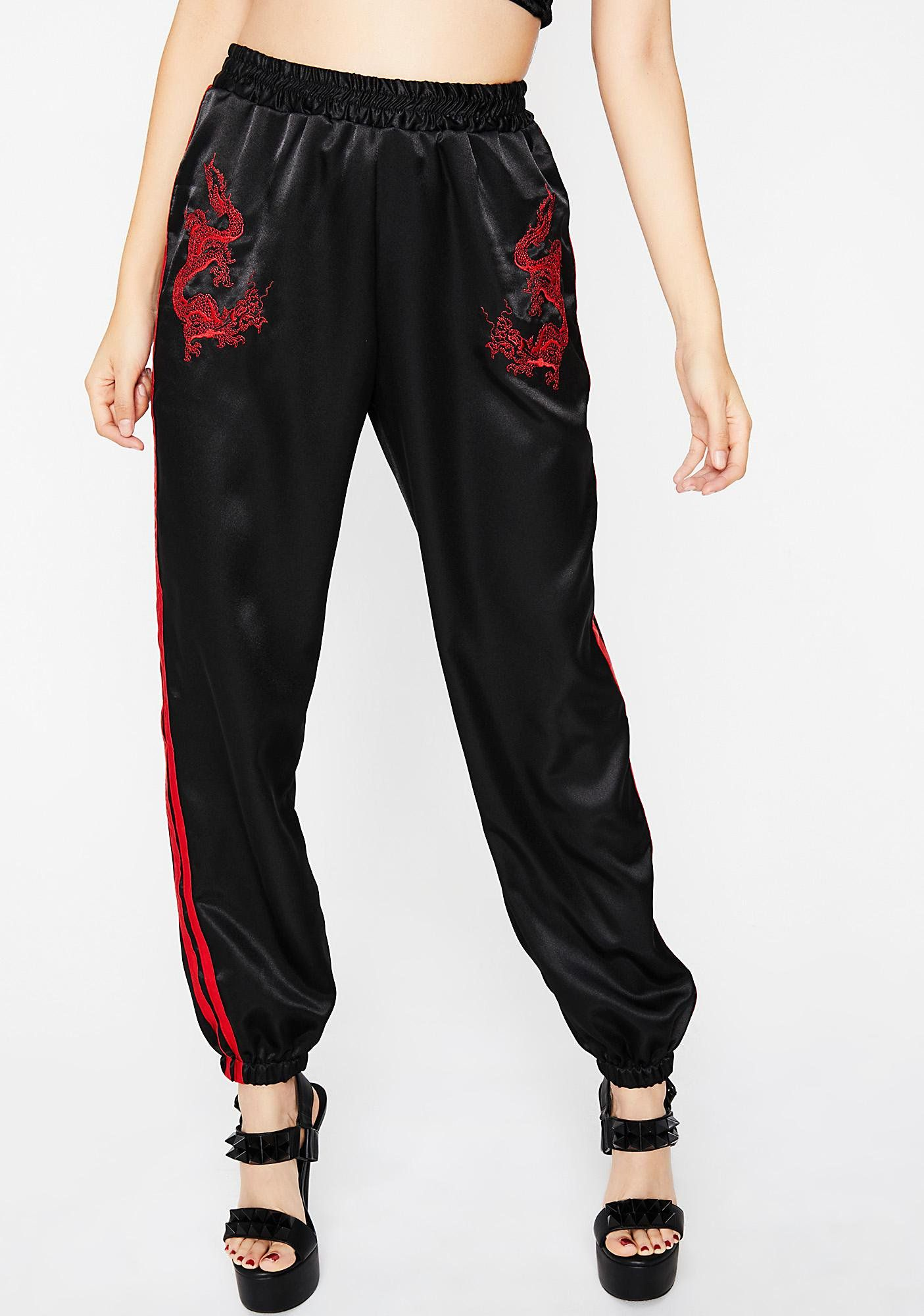 o mighty dragon track pants you can slay my dragon any day of the