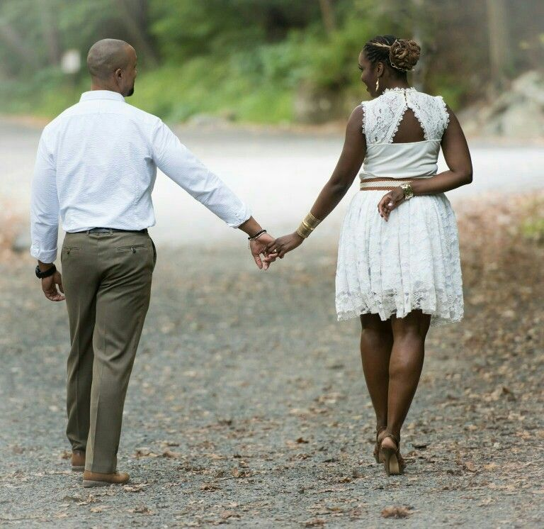 African American Wedding Photography Holding Hands
