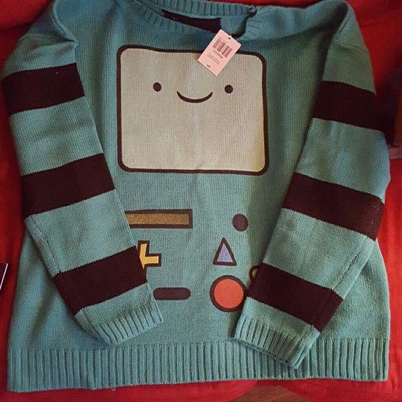 Adventure time BMO sweater Loose fitting sweater welovefine Sweaters