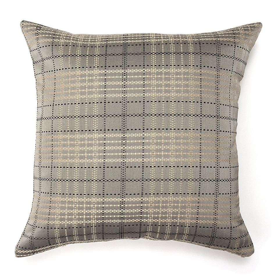 42 Gorgeous Grey Bedrooms: Amity Cube Square Throw Pillow In Grey