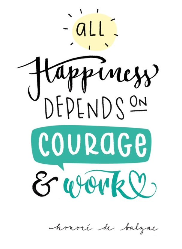 Happiness Handlettering Quote Www Frauannika De Spruche