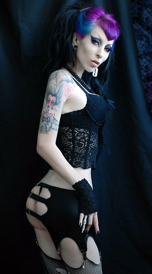 Girl nude punk emo punk