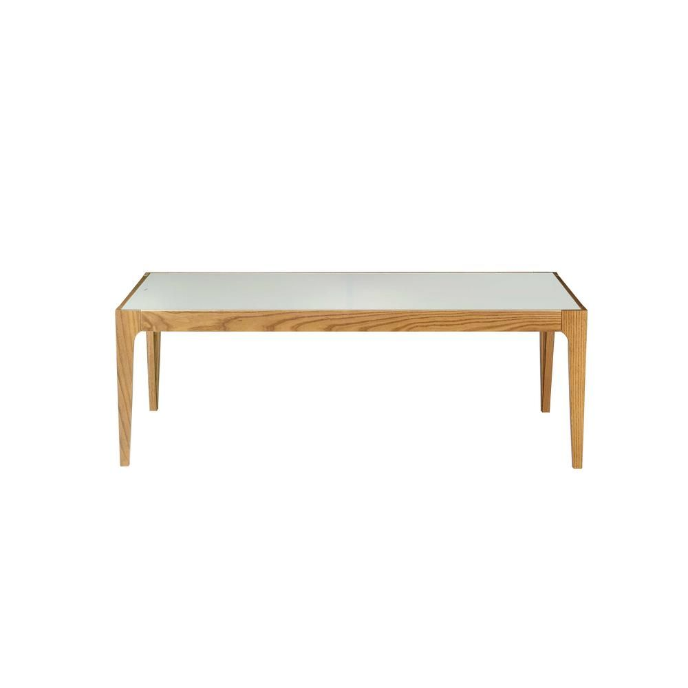 Acme Furniture Gwynn 43 In Natural Clear Large Rectangle Glass Coffee Table 84665 The Home Depot Rectangle Glass Coffee Table Coffee Table Elegant Coffee Table [ 1000 x 1000 Pixel ]