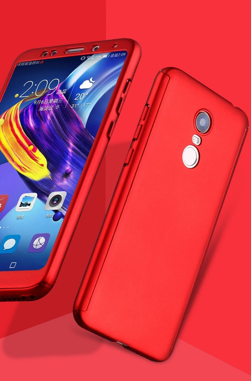 3 In 1 Plastic Case Glass Protect Full Cover 360 For Xiaomi Redmi 5 Plus 5a Cover Redmi 6 Pro 6a S2 Case Tempered Glass Gift Glass Gifts Plastic Case Tempered Glass