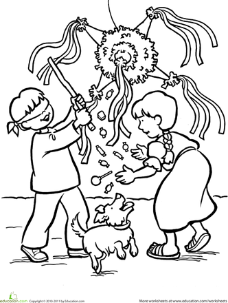 Worksheets Las Posadas Coloring Page