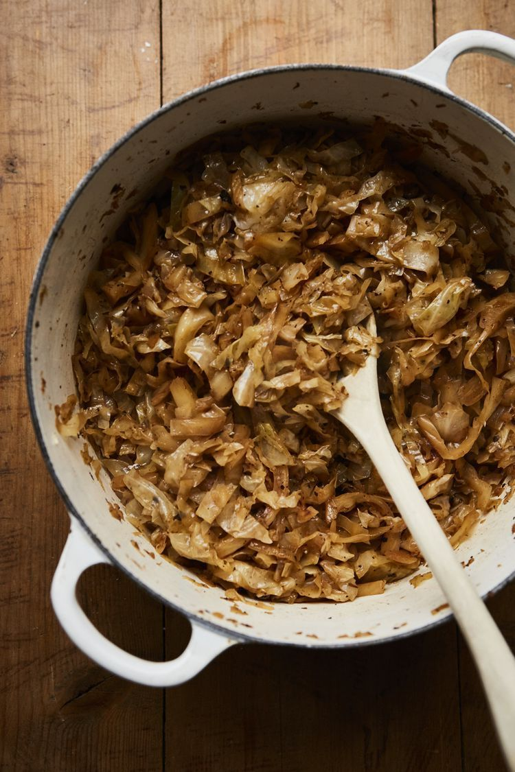 Easy Irish Beer Braised Cabbage With Bacon