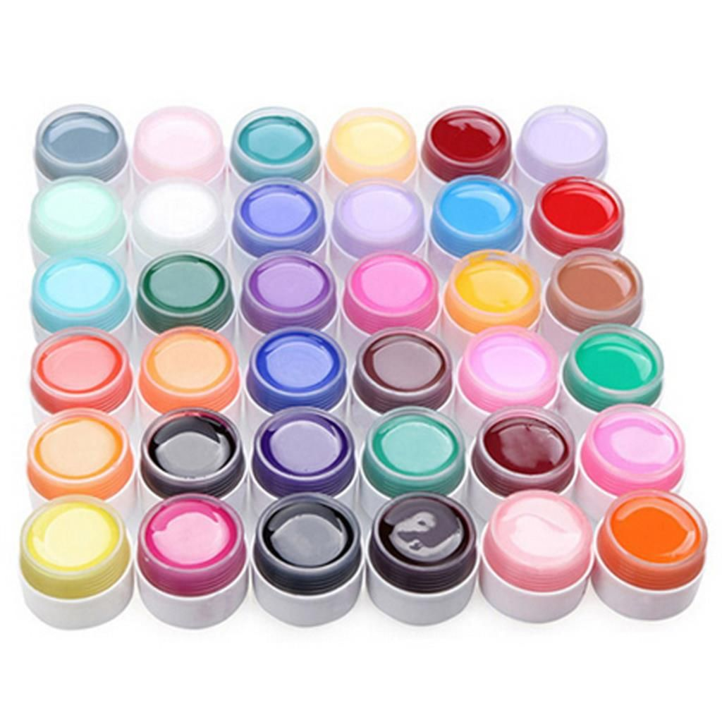 Good Sale 12 Pure Beautiful Colors Shiny Extension Nail Art UV Gel ...