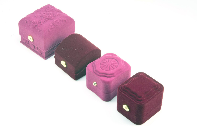 Velvet cover ring box - quality jewelry gift box - wedding ring box ...