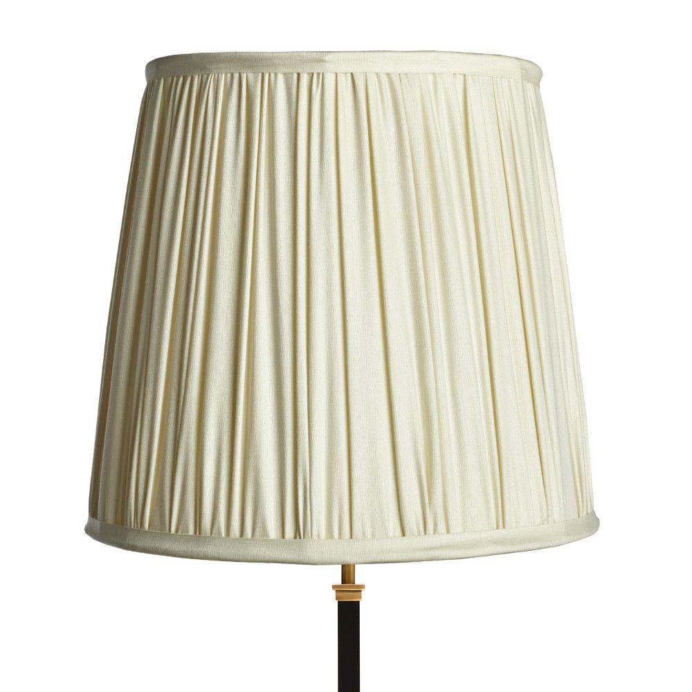 40cm Tall Tapered Gathered Lampshade In Stone Taj Silk Lamp Shades Lampshades Stone