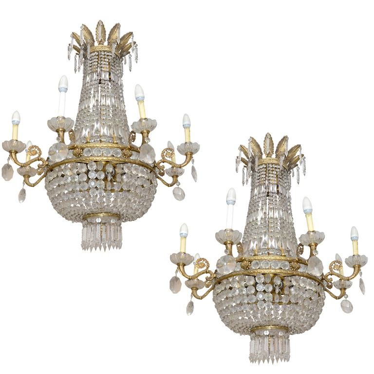 1stdibs - xx century pair of chandelier explore items from 1,700  global dealers at 1stdibs.com