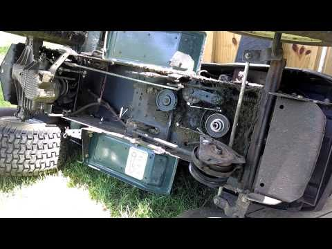 How To Change Replace Main Transmission Drive Belt Craftsman Lawn Mower
