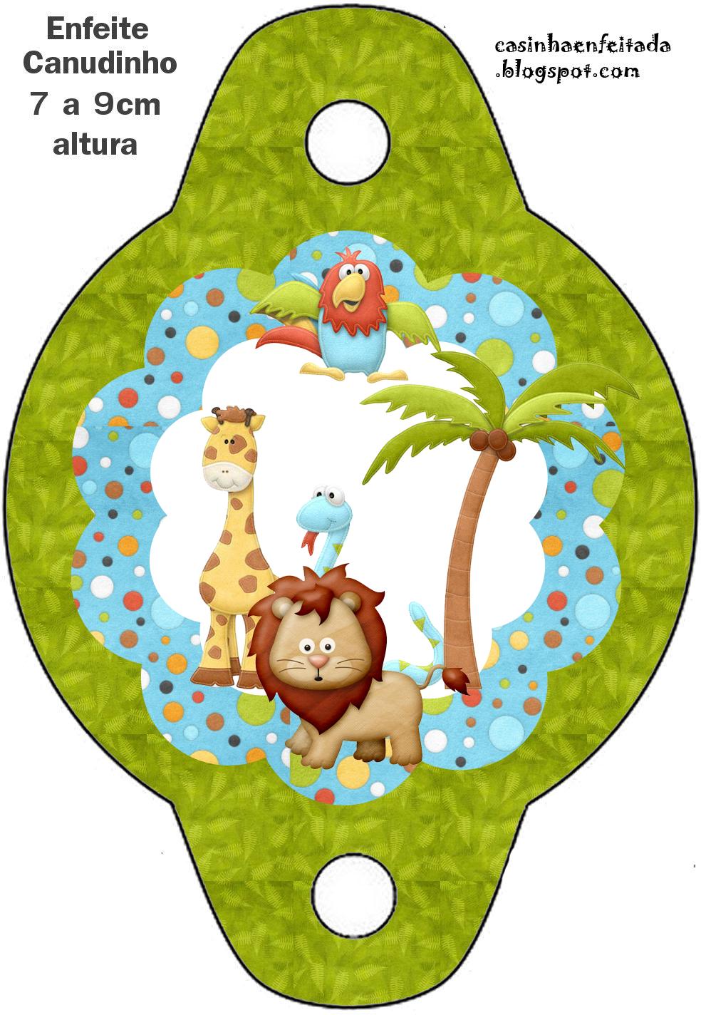 Kit Festa Safari Para Imprimir Grátis   Selvas, Pajas y Bombas