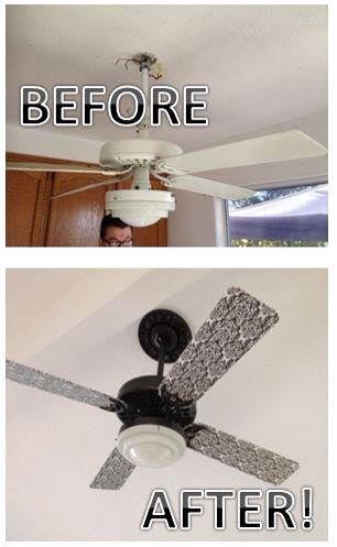 Ceiling Fan Redo Removed It From A Flat Ceiling Painted With