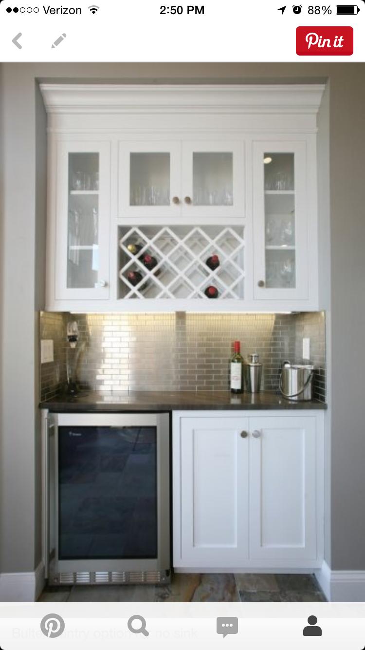 Butler Pantry Wine Fridge Bars For Home Home New Homes