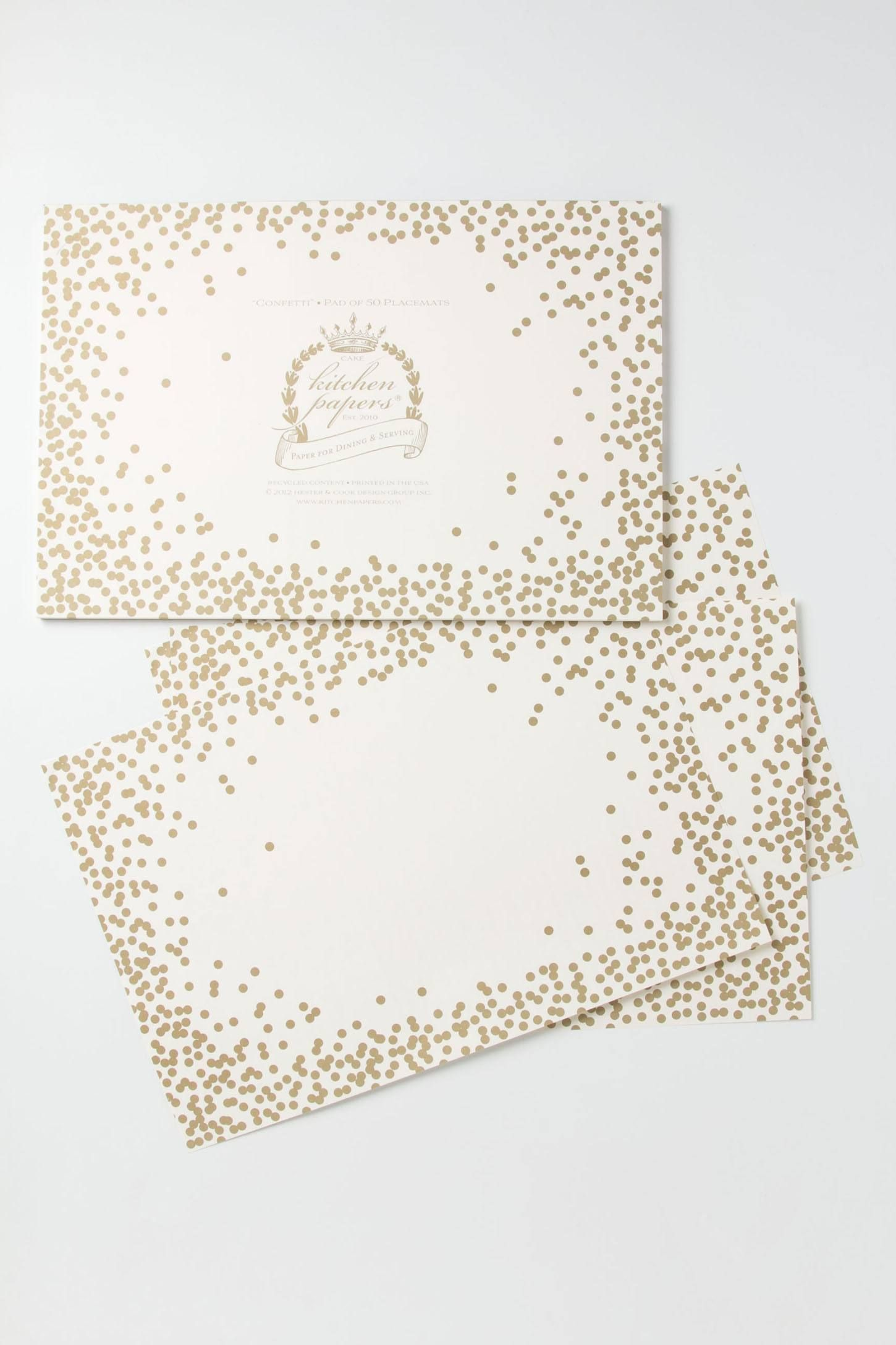 Confetti Paper Placemats Anthropologie Com Diy Holiday Gift Wrapping Diy Holiday Gifts Wedding Stationery Inspiration