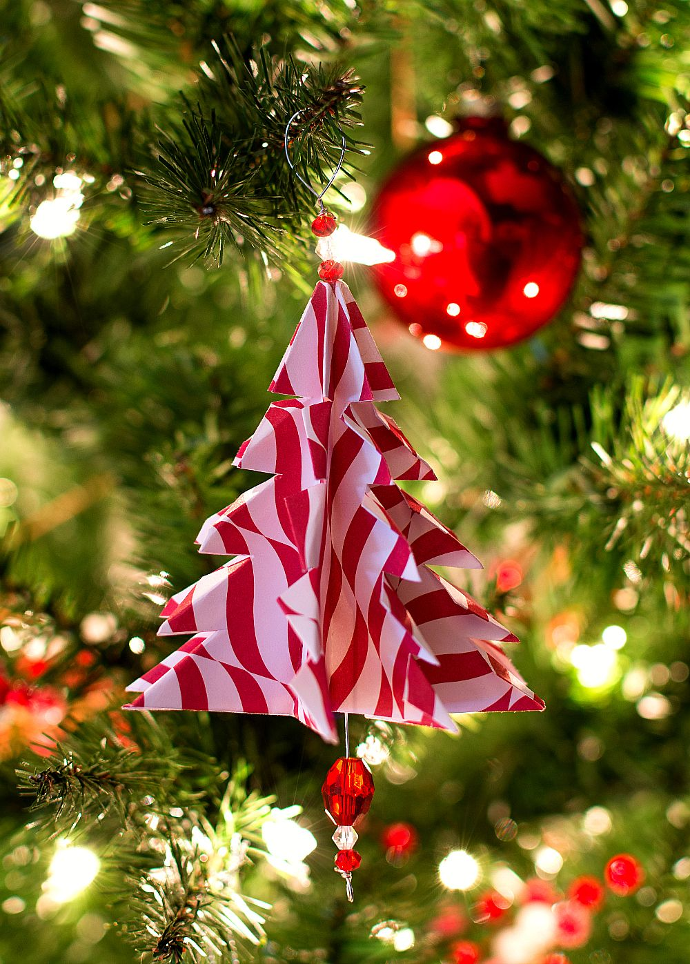 Handmade christmas tree ornaments ideas - Christmas Craft Ideas Handmade Ornament With Paper Origami Tree