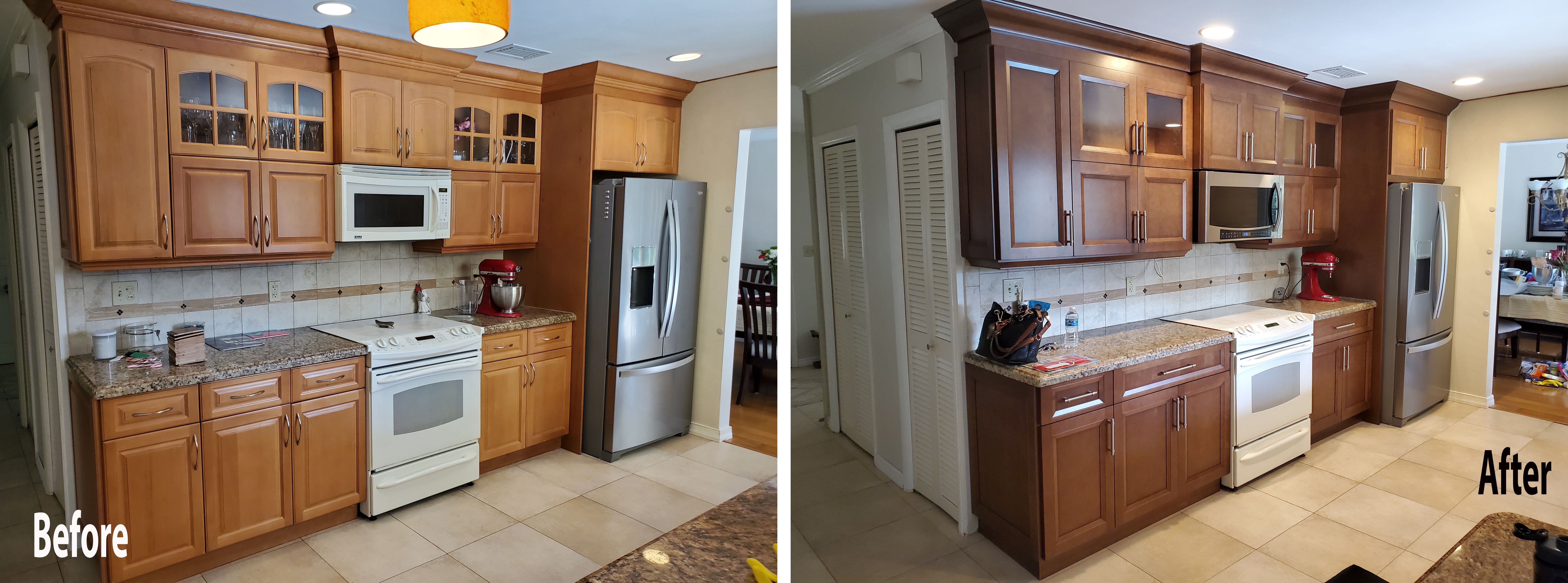 Traditional Kitchen Remodel Done With Cabinet Refacing In 2020 Traditional Kitchen Remodel Kitchen Remodel Traditional Kitchen