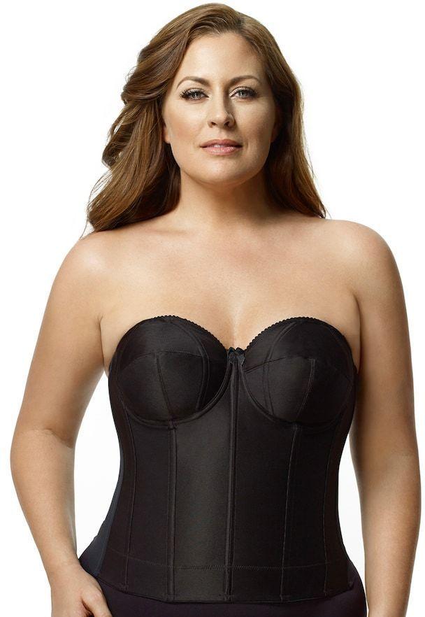 Elila Plus Size Elila Bra: Smooth Strapless Full-Figure Longline Bra 6421