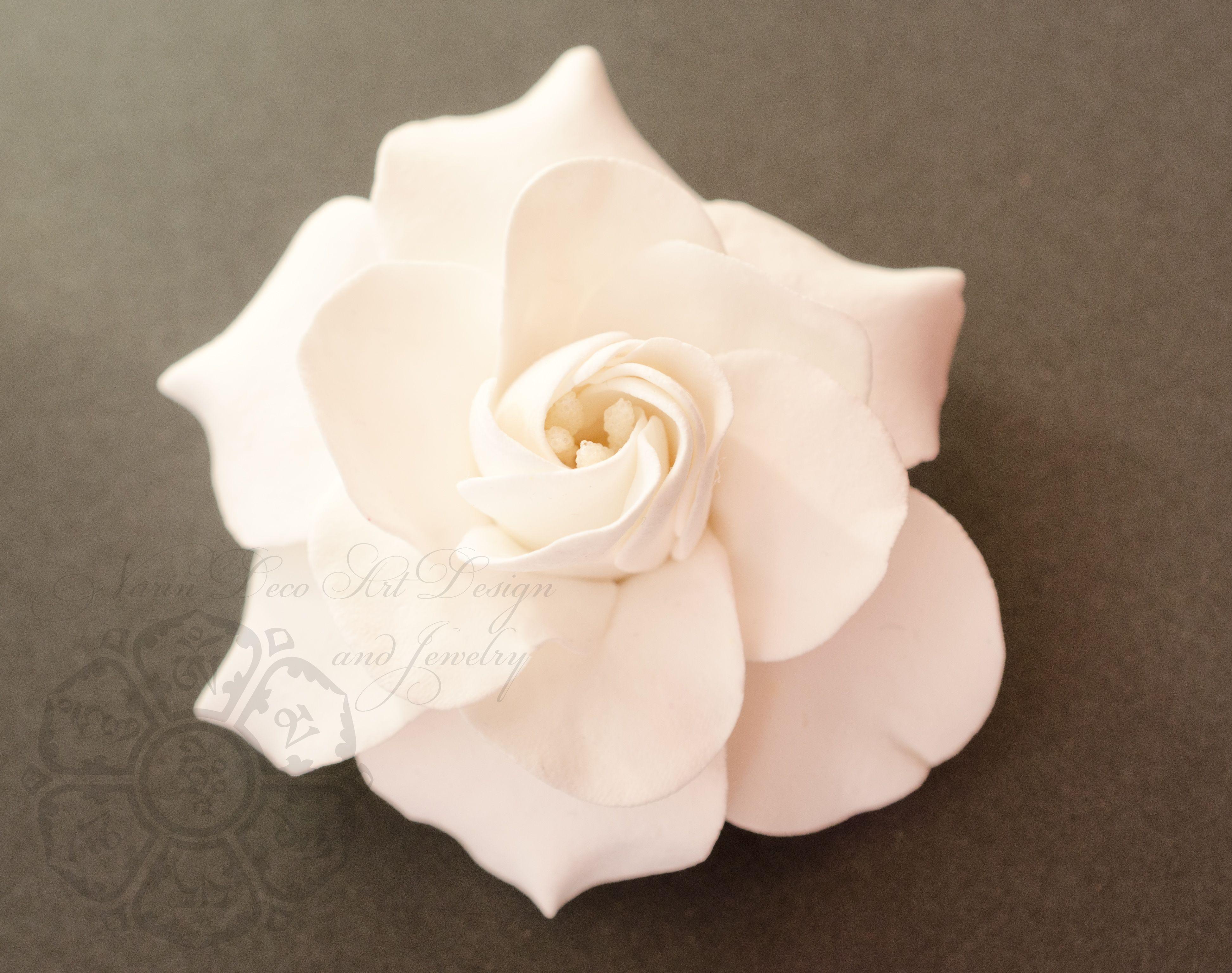 Hair Clip Gardenia Clay Flowers Flower Making Handcraft