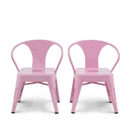 Awe Inspiring Mainstays Graham Kids Metal Industrial Chair Set Of 2 Dailytribune Chair Design For Home Dailytribuneorg