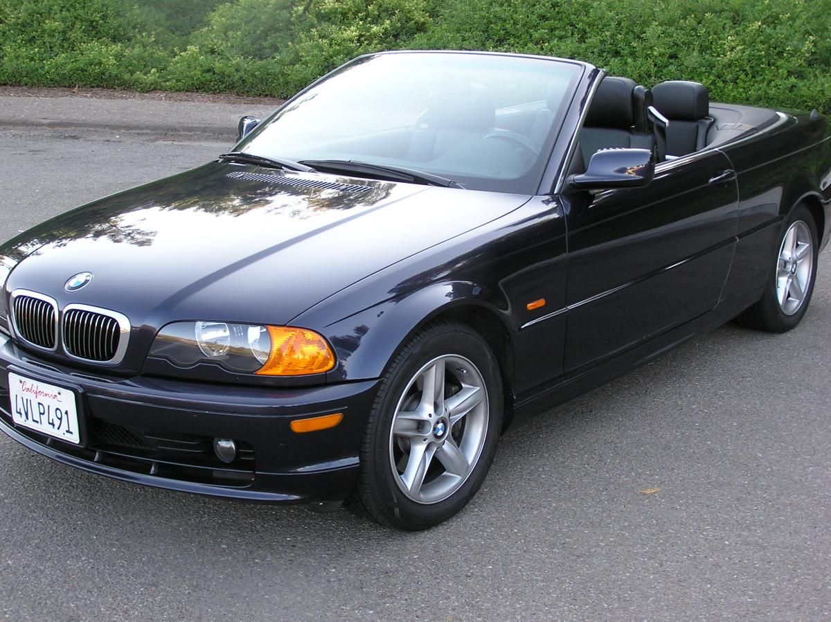 2002 Bmw 325ci Convertible Orient Blue Metallic Exterior Black Top Interior Love Bmw Convertible Bmw Car