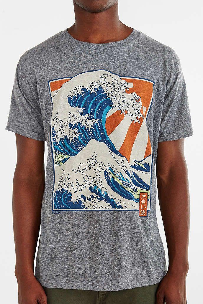 LIFE Wave And Sun Tee Tees, Cool tees, Urban outfitters