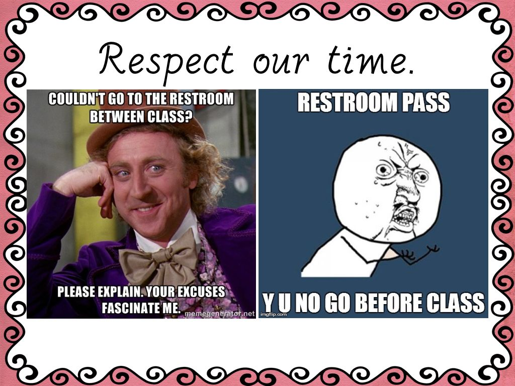 6th Grade Meme Rules Teaching classroom management