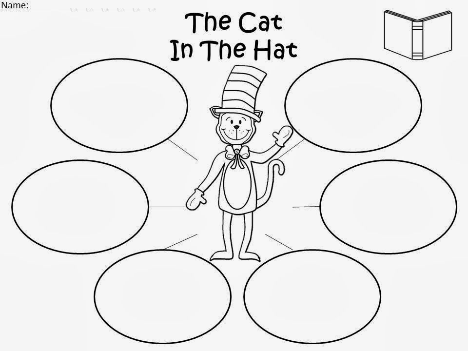 Free The Cat In The Hat Bubble Map For Educational Purposes Only