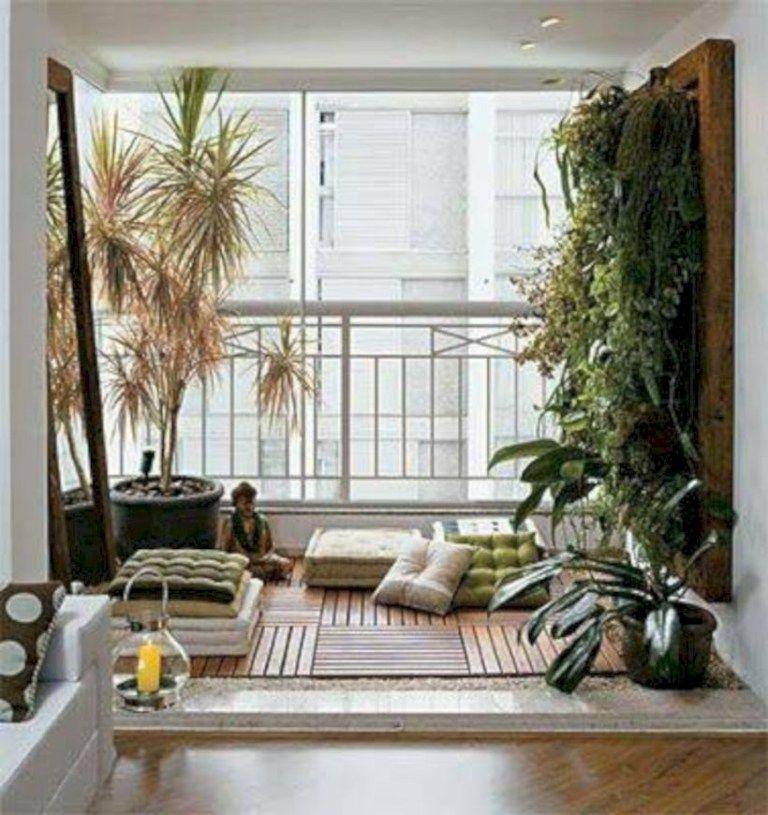 55 Inspiring Balcony Ideas for Small Apartment #balconyideas