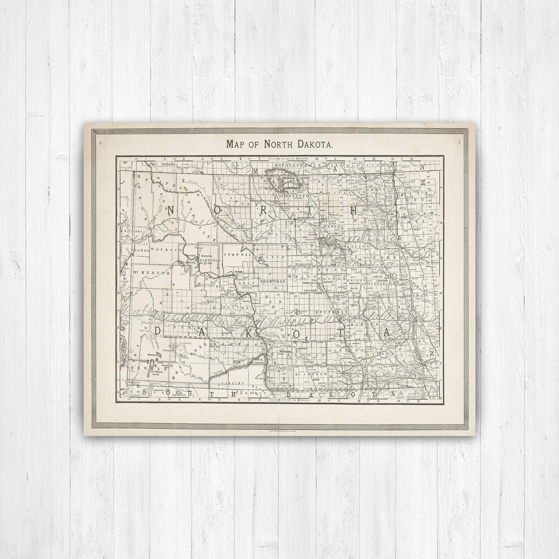 Map of North Dakota, North Dakota, State Map, North Dakota ...