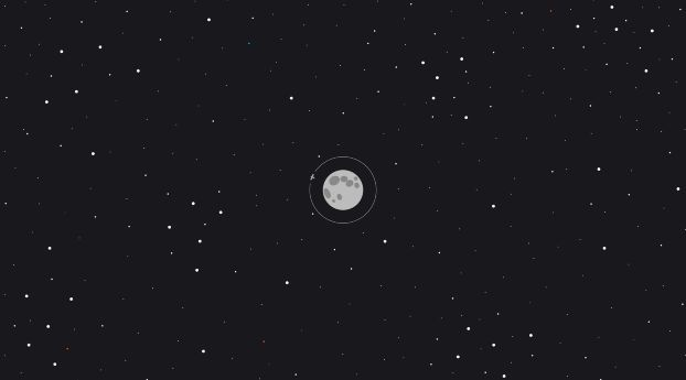 Moon Space Minimal Desktop Wallpaper Design Desktop Wallpaper Art Minimal Wallpaper
